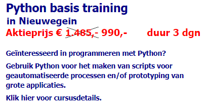 Advertentie training Python Basis